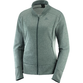 Salomon Right Nice Full-Zip Midlayer Damen green gab